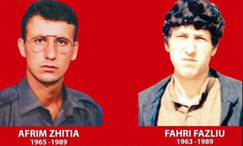 Posta e Kosovës ka emërtuar pullën postare me portretet e heronjve ë kombit, Afrim Zhitia dhe Fahri Fazliu në 29 vjetorin e rënies