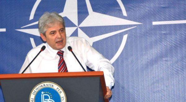 Kryetari i BDI-së, Ali Ahmeti, ka shprehur kënaqësinë për anëtarësim e Maqedonisë në NATO