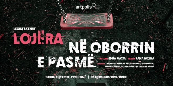 """Artpolis prezanton: Leximin skenik """"Lojëra në oborrin e pasmë"""", në Parkun e Qytetit në Prishtinë, të premten, në orën 20:00"""