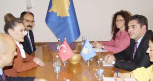 Ministri Bajram Hasani priti në takim ambasadoren turke Kivilxhim Kiliç