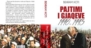 """Zymer Mehani: Pajtimtari i gjaqeve, Behram Hoti për lexuesit shqiptarë nxori nga shtypi librin """"Pajtimi i Gjaqeve 1990-1995"""""""