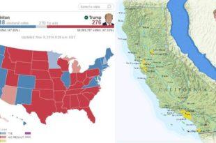 Fitorja në zgjedhjet presidenciale e kandidatit republikan, Donald Trump, ka shkaktuar tronditje në Kaliforni
