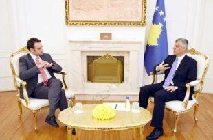 Kryetari, Thaçi priti në takim ambasadorin britanik, O'Connell