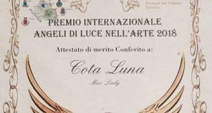 """Cota Luna fiton në Viterbo, Romë, çmimin ndërkombëtar të """"Arteve 2018"""""""