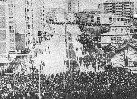 Më 2 dhe 3 prill të vitit 1981, protestat kishin përfshirë Prishtinën dhe po thuajse të gjitha qytetet e Kosovës