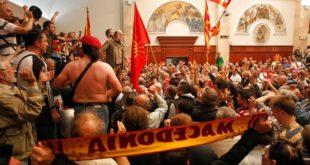 Dhuna e shfrenuar fizike e bandave të VMRO-DPMNE-së pushtoi Kuvendin pas zgjedhjes së Talat Xhaferit