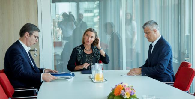 Vucic - Mogherini - Thaci