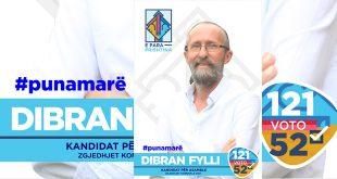 """Dibran Fylli është kandidat i AAK-së në listën """"E para Prishtina"""" për Asamble në qytetin e Prishtinës në listën zgjedhore me numër 52"""