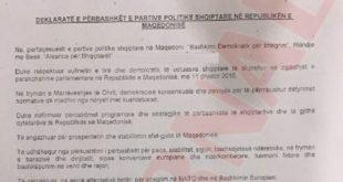 Interesi politik dhe kombëtar i bashkoi kryetarët e partive politike në Maqedoni