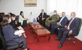 Ministri i Mbrojtjes, Anton Quni, priti ministren e Punëve të Jashtme dhe të Diasporës, Melisa Haradinaj