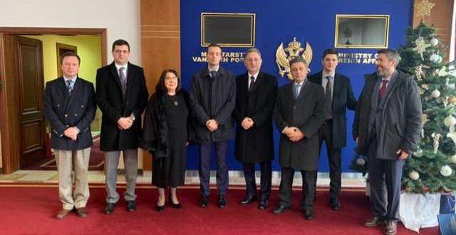Një delegacion i Ministrisë së Punëve të Jashtme i Republikës së Kosovës ka qëndruar sot në Malin e Zi