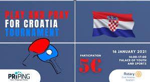 Përmes pingpongut, Priping ndihmon Kroacinë