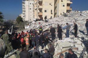 Ministria e Mbrojtjes së Shqipërisë bënë të ditur se deri me tani se 16 persona kanë humbur jetën nga tërmeti