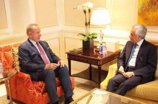 Ministri i Jashtëm, Behxhet Pacolli takon ministrin e Shtetit për Punë të Jashtme të Katarit, Soltan bin Saad Al-Muraikhi