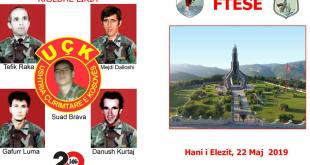 Nesër në Han të Elezit mbahet Akademi përkujtimore për dëshmorët Tefik Raka, Mejdi Dalloshi, Suad Brava, Gafurr Luma dhe Danush Kurtaj