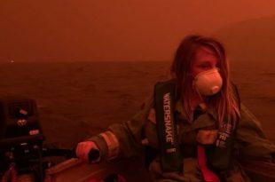 Australia përfshihet nga zjarrët mijëra banorë zhvendosen në bregdet për të kërkuar strehim për t'i shpëtuar flakëve