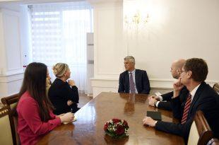 Kryetari i Kosovës, Hashim Thaçi, ka pritur sot në takim ambasadoren e Finlandës në Prishtinë, Pia Stjernvall