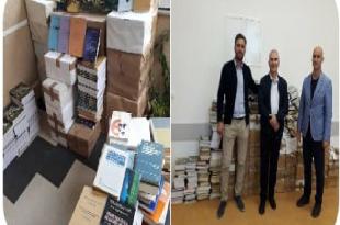 Profesor Gani Pllana dhe bashkëshortja e tij, inxhinierja Sadete Pllana i dhurojnë Universitetit të Mitrovicës 1710 libra