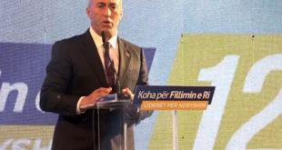 Kandidati për kryeministër nga PDK-AAK-NISMA, Ramush Haradinaj, mbajti tubim zgjedhor në Vushtrri