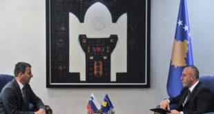 Kryeministri i Kosovës, Ramush Haradinaj, priti në takim ambasadorin e Sllovenisë në Kosovë, Bojan Bertoncel