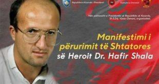 Më 14 qershor 2021 pritet të përurohet shtatorja e heroit të kombit, Hafir Shala