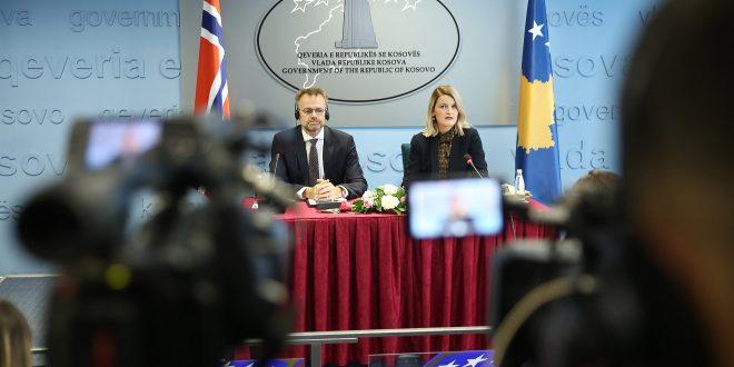 Ministrja Hoxha: Qeveria norvegjeze përkrah Kosovën në zbatimin e Marrëveshjes së Stabilizim Asociimit