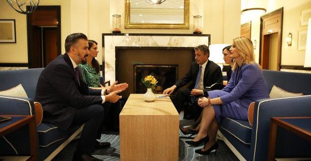 Ministrja e Integrimit Evropian, Dhurata Hoxha, ka takuar homologun e saj malazias, Andrija Pejoviq
