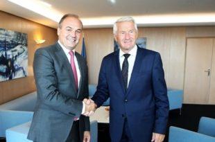 Ministri, Hoxhaj bisedoi në Strasburg, me sekretarin e Përgjithshëm të KE-së, Thorbjon Jagland