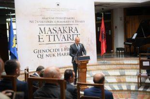 Sot në një Akademi është përkujtuar njëra prej tragjedive më të përgjakshme e kryer nga focat serbe, masakra e Tivari
