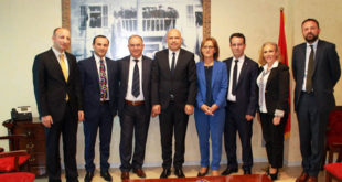 Në delegacion i Këshillit Gjyqësor të Kosovës po qëndron për një vizitë zyrtare në Shqipëri