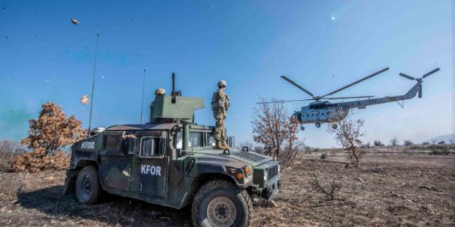 KFOR e zhvillon sot një stërvitje rutinore trajnimi që përfshinë helikopterë të shumtë në të gjithë Kosovën
