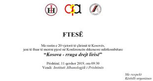 """Në Institutin Albanologjik të Prishtinës organizohet konferenca shkencore ndërkombëtare """"Kosova – rruga drejt lirisë"""""""