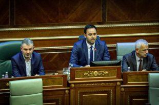 Kryetari i Kuvendit Kombëtar të Sllovenisë, Dejan Zidan, uron Konjufcën për zgjedhjen e tij për kryekuvendar
