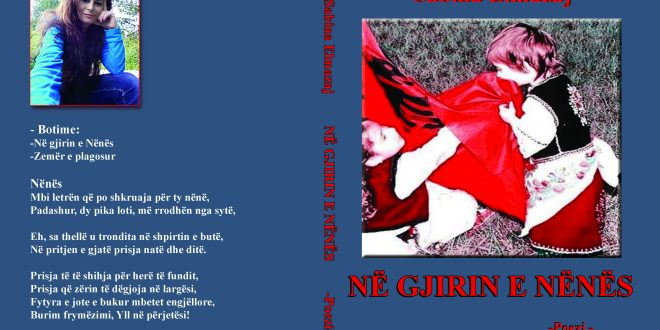 """Albert Z. Zholi: Libri me poezi """"Në gjirin e Nënës"""" i poeteshës, Sabina Elmazaj, një libër patriotik me vlera"""