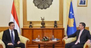 Kryekuvendari, Veseli, priti në takim ministrin e Punëve të Jashtme dhe të Tregtisë të Hungarisë, z. Péter Sijártó, me të cilin kanë diskutuar për zhvillimet