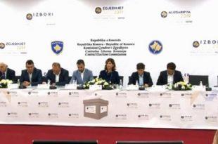 KQZ zyrtarisht e ka njoftuar sot kryetarin e vendit, Hashim Thaçi me rezultatet zgjedhore të 6 tetorit