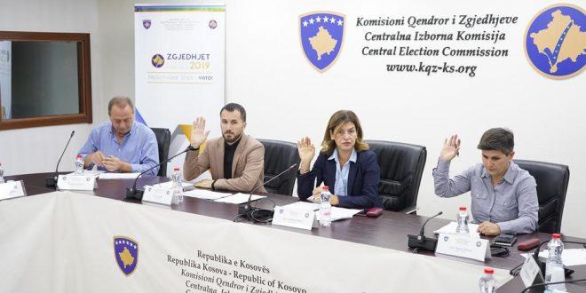 Komisioni Qendror i Zgjedhjeve i publikon rezultatet përfundimtare të zgjedhjeve të 6 tetorit