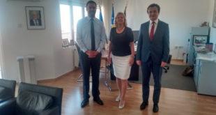 Albin Kurti e Glauk Konjufca qendruan për një vizitë në Ambasadën e Gjermanisë, në Prishtinë
