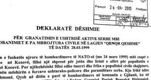 """17 vjet nga granatimi i lagjes """"Arbëria"""" të Gjilanit nga ushtria serbe"""