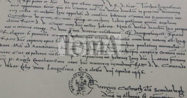 Në letrën që Skënderbeu i drejtonte Papës në Romë, në vitin 1456 habitej pse nuk po merrte përgjigje