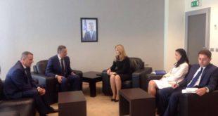 Ministrja e Drejtësisë, Dhurata Hoxha, priti sot kyeprokurorin e Shtetit, Aleksandër Lumezi