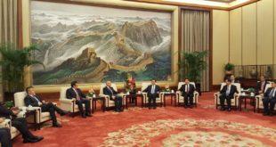 Kryekuvendari Ilir Meta u prit në vizitë nga kryetari i Asamblesë Kombëtare Popullore të Kinës, Zhang Dejiang