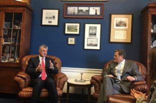Kryetari Hashim Thaçi është takuar me kongresistin Mike Turner
