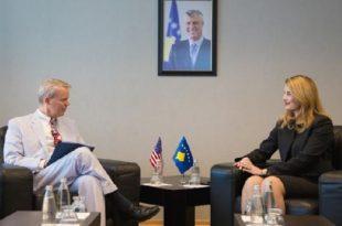 Ministrja, Hoxha takon ambasadorin, Delawie