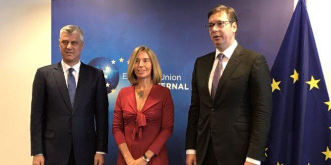 Mogherini: Thaçi dhe Vuçiq