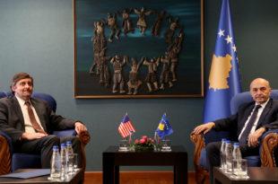 Kryeministri i Mustafa, priti në takim zyrtarin e lartë amerikan të Shtetit, Metthew Palmer