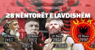 Radio Kosova e Lirë, Kalendari kombëtar – muaji nëntor