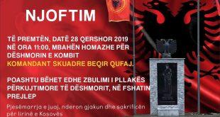 Në fshatin Preljep të Deçanit nesër zbulohet pllaka përkujtimore për dëshmorin e kombit, Beqir Qufaj
