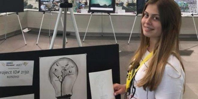 Nxënësja nga Ferizaji, Rineta Çerkini, po shkëlqen me dituri në arenën ndërkombëtare!
