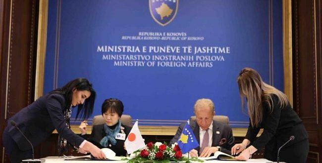 Kosova dhe Japonia kanë nënshkruar një marrëveshje dypalëshe nga e cila vendi ynë do të përfitojë 250 milionë jen japonez
